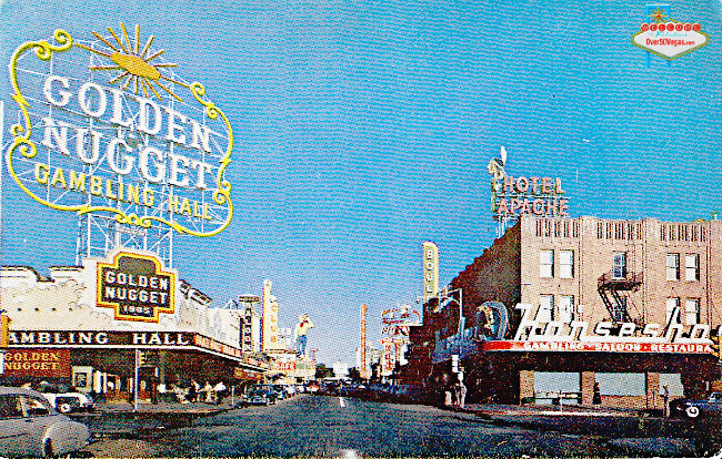 Horseshoe Club with Golden Nugget early 1950's postcard