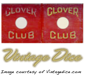 Clover Club dice from vintagedice.com