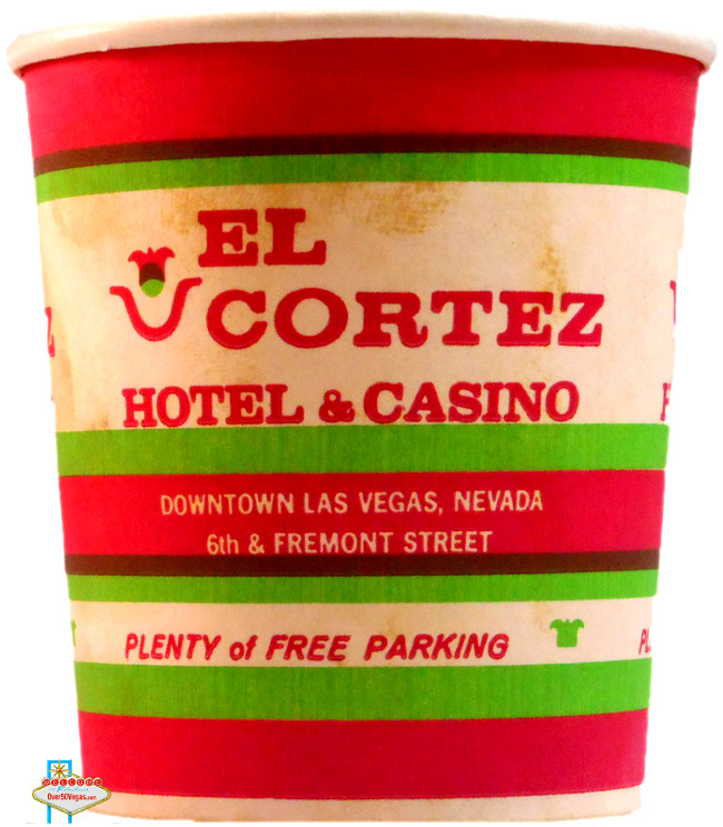 "Today's slot machines use ""TITO's"" or ticket in/ticket out. But before that system it was all coins and tokens. You needed something to carry those coins around from machine to machine and then to the cashier.  Originally customers used paper cups supplied by the casinos. Here's an older example of a paper coin cup that has survived from the El Cortez in downtown Las Vegas."