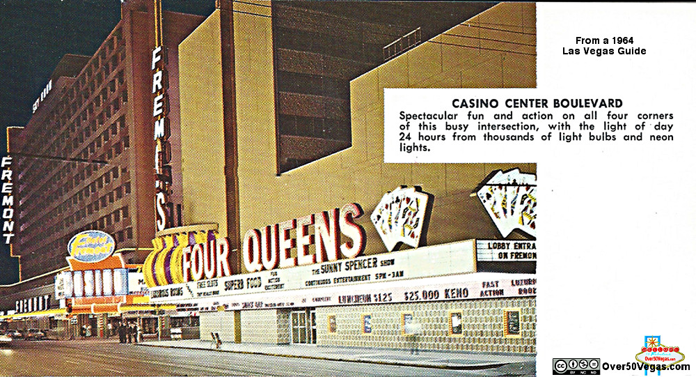 Fremont and Four Queens in Las Vegas in 1964