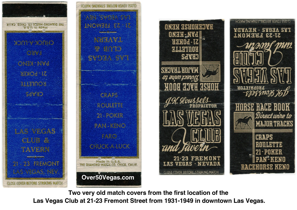 Two very old match covers from the first 
