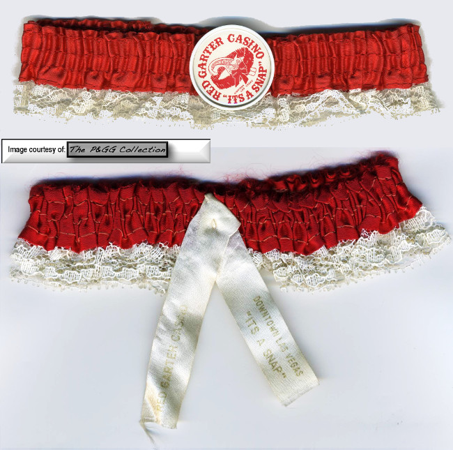 "The Red Garter gave away a unique souvenir in the form of a 'Red Garter""."
