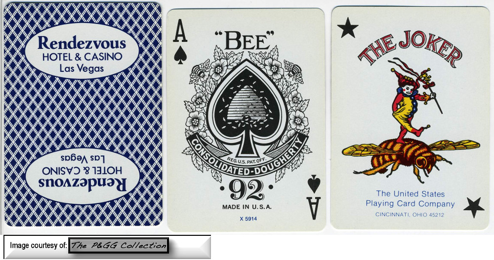 Rendevous Hotel Casino Las vegas Playing cards