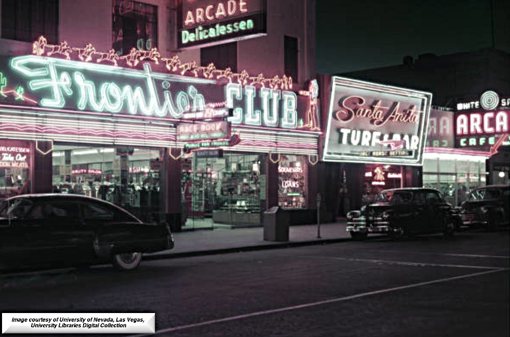 The Santa Anita Turf and Bar  113 Fremont Street in downtown Las Vegas in the 1940's